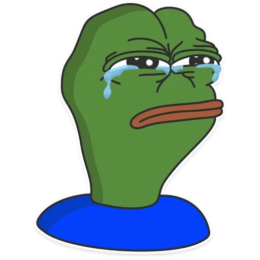 pepe sad - Sticker 4