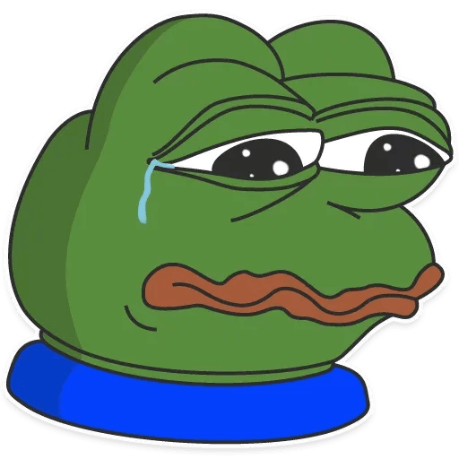 pepe sad - Sticker 5
