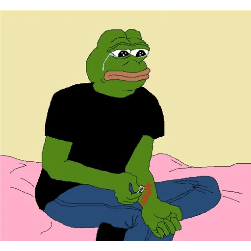 pepe sad - Sticker 17