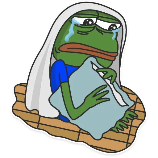 pepe sad - Sticker 3