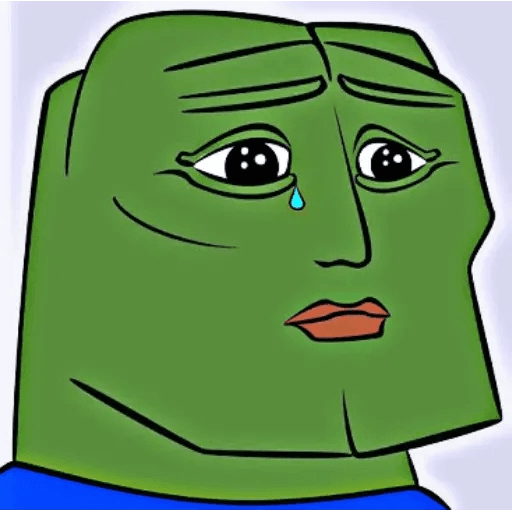 pepe sad - Sticker 25