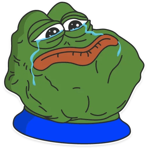 pepe sad - Tray Sticker