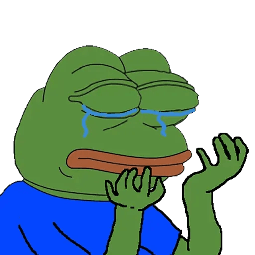 pepe sad - Sticker 24