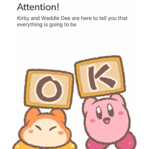 Kirby reacts - Sticker 27