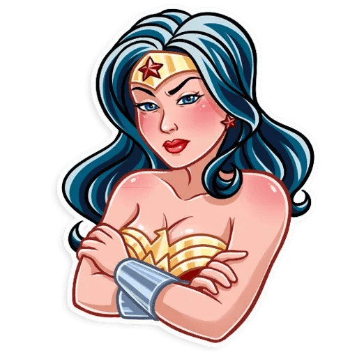 Wonder Woman - Tray Sticker