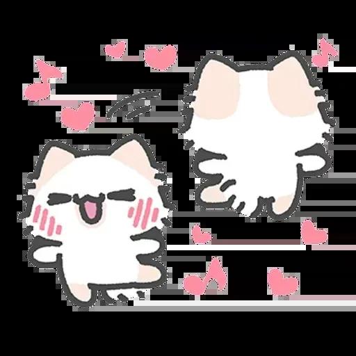 毛喵情侶日常 - Sticker 15