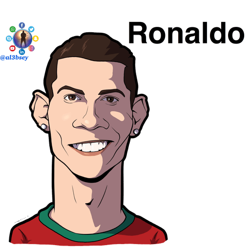 Football stars cartoons  - Sticker 3