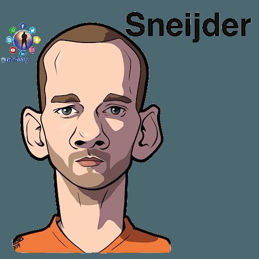 Football stars cartoons  - Sticker 25
