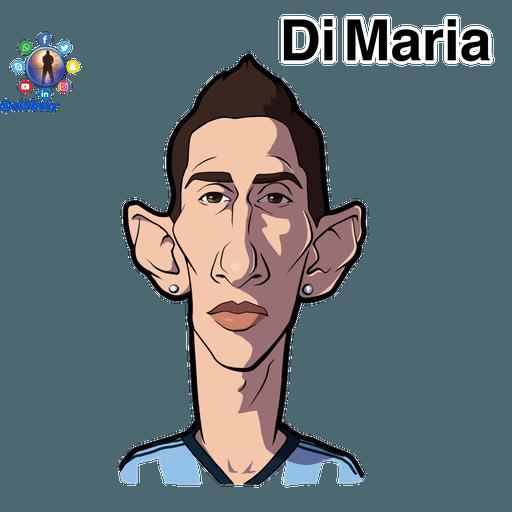 Football stars cartoons  - Sticker 8