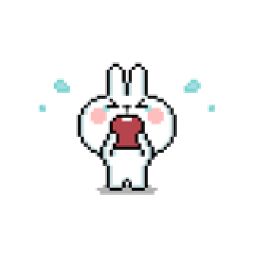 Spoiled Rabbit Dot - Sticker 2
