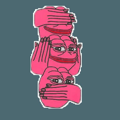 Pink Pepe 4 - Sticker 18