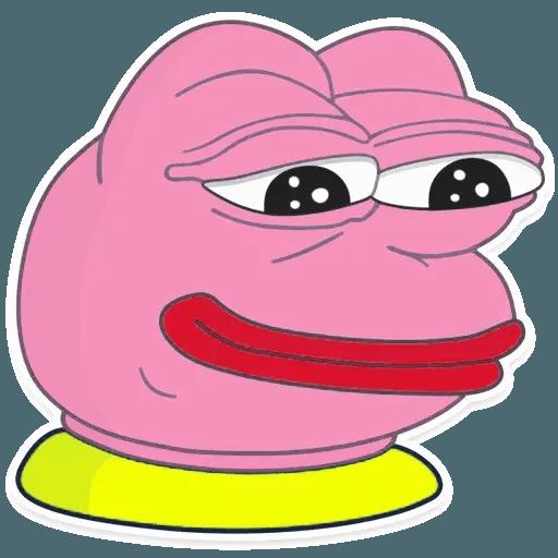 Pink Pepe 4 - Tray Sticker
