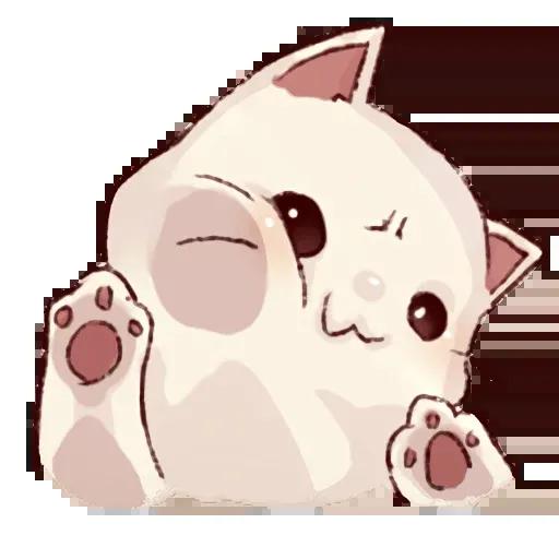 Frown cat - Sticker 1