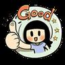 Smile girl - Tray Sticker