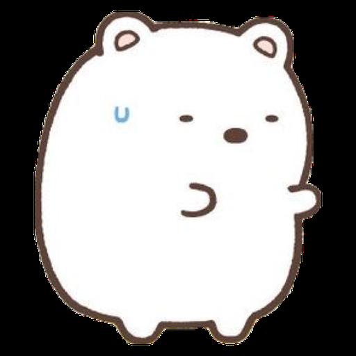 角落生物的- 白熊 - Sticker 4