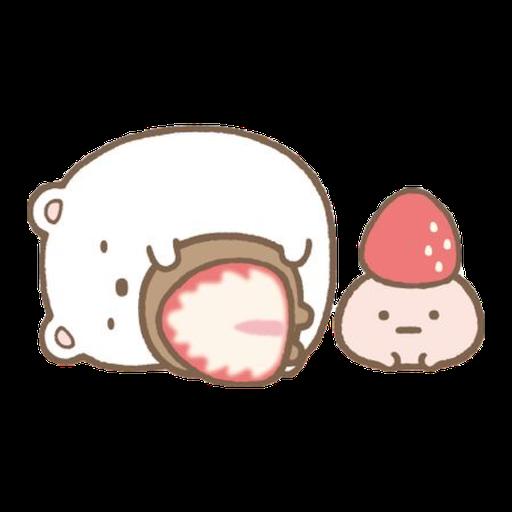 角落生物的- 白熊 - Sticker 3