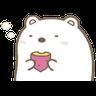 角落生物的- 白熊 - Tray Sticker