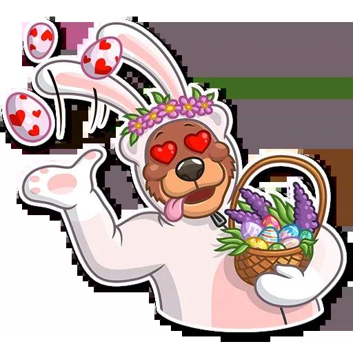 Easter Bear - Sticker 2