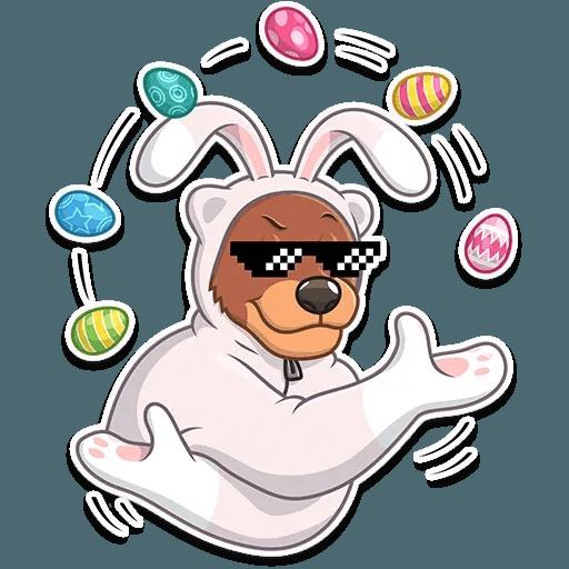 Easter Bear - Sticker 27
