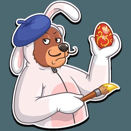 Easter Bear - Sticker 24