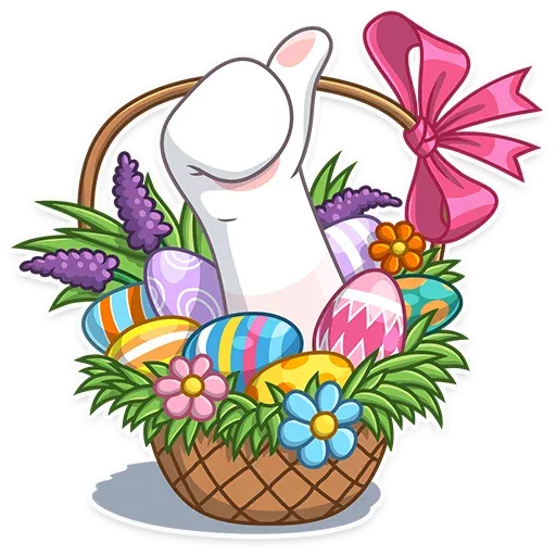 Easter Bear - Sticker 4