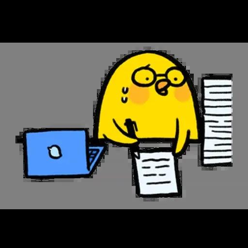 懶散兔與啾先生:職場人生 - Sticker 14