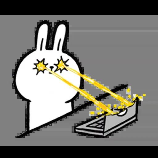 懶散兔與啾先生:職場人生 - Sticker 7
