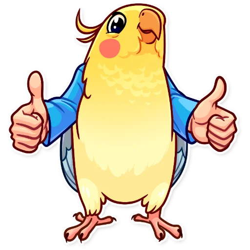 Birds with Arms - Sticker 3