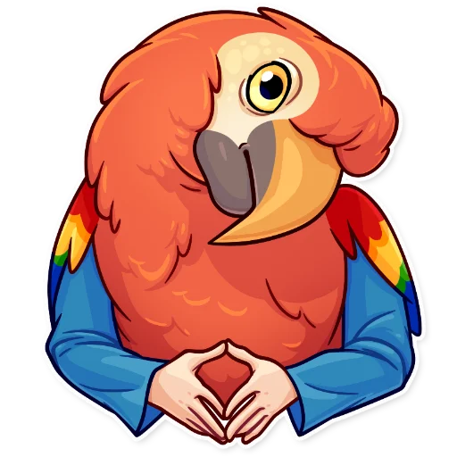 Birds with Arms - Sticker 11