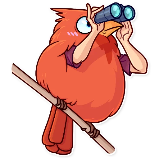 Birds with Arms - Sticker 23
