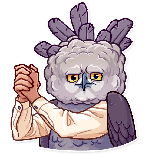 Birds with Arms - Sticker 28