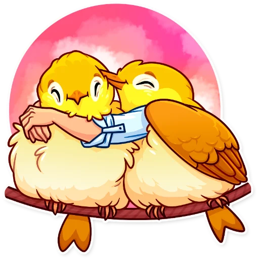 Birds with Arms - Sticker 6