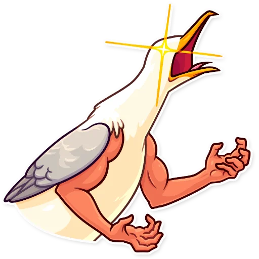 Birds with Arms - Sticker 21