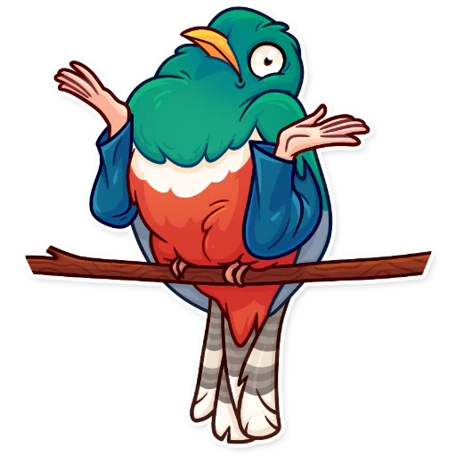 Birds with Arms - Sticker 7