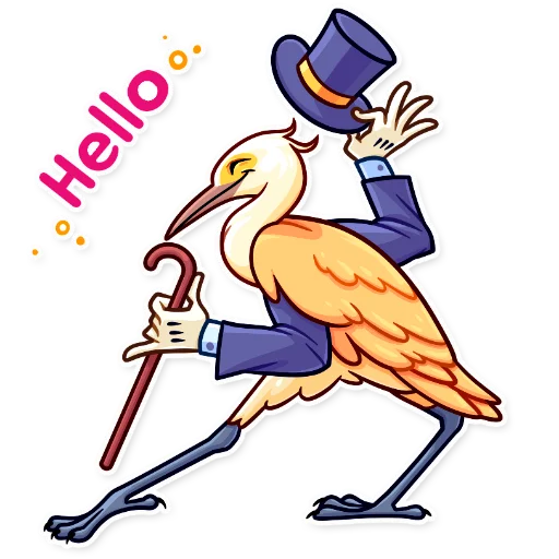 Birds with Arms - Sticker 5