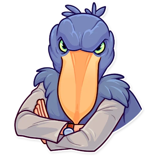 Birds with Arms - Sticker 20
