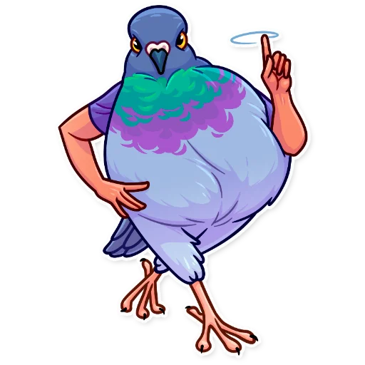 Birds with Arms - Sticker 9