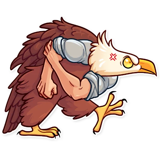 Birds with Arms - Sticker 29