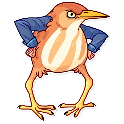 Birds with Arms - Sticker 10