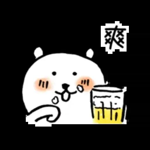 對自己吐槽的白熊 夏日篇 - Sticker 18