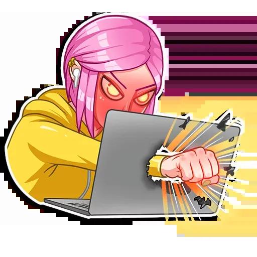Internet Addiction - Sticker 16