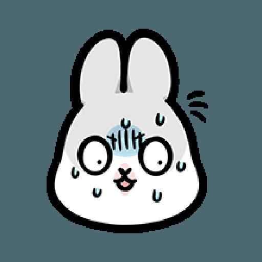 ㄇㄚˊ幾兔9 打人 驚 - Tray Sticker