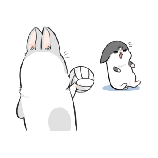 ㄇㄚˊ幾兔9 打人 驚 - Sticker 2