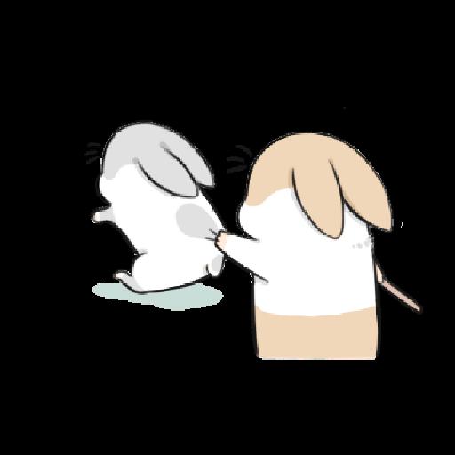 ㄇㄚˊ幾兔9 打人 驚 - Sticker 16