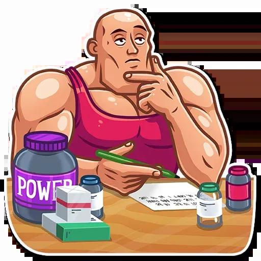 Bodybuilder - Sticker 16
