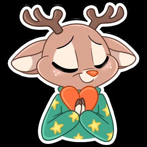Happy cat and reindeer - Sticker 4