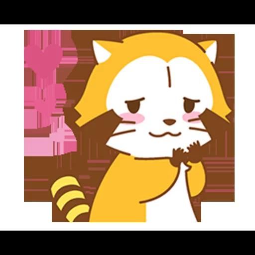 Happy Raccoon Love - Sticker 2