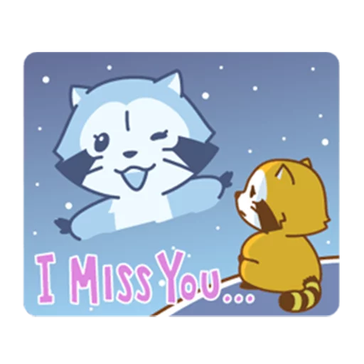 Happy Raccoon Love - Sticker 17