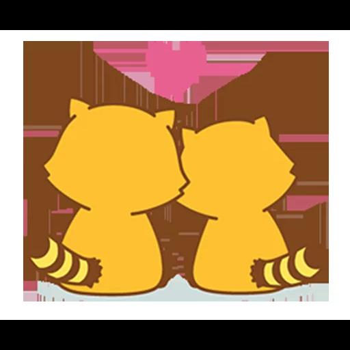 Happy Raccoon Love - Sticker 14
