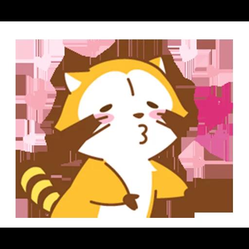 Happy Raccoon Love - Sticker 15